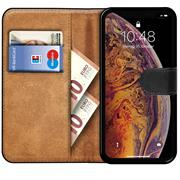 Basic Bookcase Hülle für Apple iPhone X / XS Tasche mit Kartenfächern