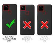 Basic Handyhülle für Google Pixel 4a 5G Hülle Book Case klappbare Schutzhülle