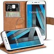 Basic Bookcase Hülle für Honor 6A klappbare Tasche mit Kartenfächern