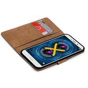 Basic Bookcase Hülle für Honor 6X klappbare Tasche mit Kartenfächern