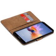 Basic Bookcase Hülle für Honor 7x klappbare Tasche mit Kartenfächern