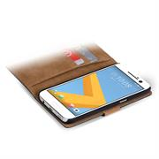 Basic Bookcase Hülle für HTC 10 klappbare Tasche mit Kartenfächern