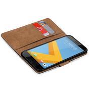 Basic Bookcase Hülle für HTC Desire 10 EVO Klapphülle Tasche mit Kartenfächern