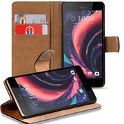 Basic Bookcase Hülle für HTC Desire 10 Lifestyle Klapphülle Tasche mit Kartenfächern