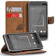 Basic Bookcase Hülle für HTC Desire 825 Schutzhülle mit Kartenfächern