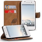 Basic Bookcase Hülle für HTC One A9 Klapphülle Tasche mit Kartenfächer