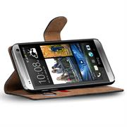 Basic Bookcase Hülle für HTC One M7 Klapphülle Tasche mit Kartenfächer in Blau