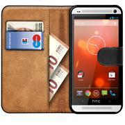 Basic Handyhülle für HTC One M7 Hülle Book Case klappbare Schutzhülle