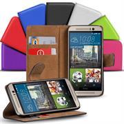 Basic Bookcase Hülle für HTC One M8 Klapphülle Tasche mit Kartenfächer