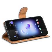 Basic Bookcase Hülle für HTC U11 klappbare Tasche mit Kartenfächern