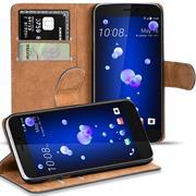 Basic Bookcase Hülle für HTC U11 Klapphülle Tasche mit Kartenfächern