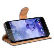Basic Bookcase Hülle für HTC U Play klappbare Tasche mit Kartenfächern