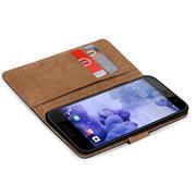 Basic Bookcase Hülle für HTC U Play Klapphülle Tasche mit Kartenfächern
