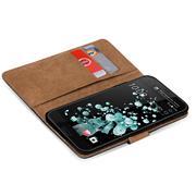 Basic Bookcase Hülle für HTC U Ultra klappbars Cover mit Kartenfächern