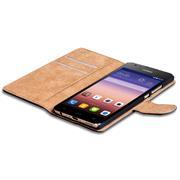 Basic Bookcase Hülle für Huawei Ascend G620s Klapphülle Tasche mit Kartenfächer