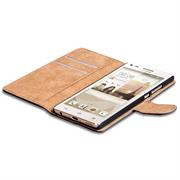 Basic Bookcase Hülle für Huawei Ascend G6 Klapphülle Tasche mit Kartenfächer