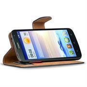 Basic Bookcase Hülle für Huawei Ascend G730 Tasche mit Kartenfächern