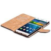 Basic Bookcase Hülle für Huawei Ascend G7 Klappcase mit Kartenfächern