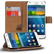Basic Bookcase Hülle für Huawei Ascend G7 Klapphülle Tasche mit Kartenfächer