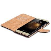 Basic Bookcase Hülle für Huawei G8 klappbare Tasche mit Kartenfächern