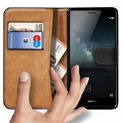 Basic Bookcase Hülle für Huawei Mate S Schutzhülle mit Kartenfächern