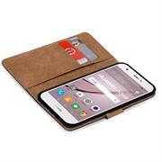 Basic Bookcase Hülle für Huawei Nova klappbars Cover mit Kartenfächern