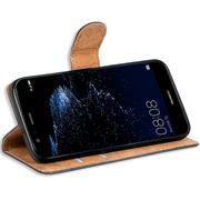 Basic Bookcase Hülle für Huawei P10 Lite Schutzhülle mit Kartenfächern