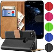 Basic Bookcase Hülle für Huawei P10 Lite Klapphülle Tasche mit Kartenfächern