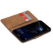 Basic Bookcase Hülle für Huawei P10 Plus Klapphülle Tasche mit Kartenfächern