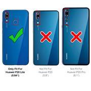 Basic Handyhülle für Huawei P20 Lite Hülle Book Case klappbare Schutzhülle