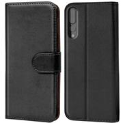 Huawei P20 Pro Basic Booklet Handy Hülle Brieftasche Wallet Case Cover mit Kartenfach
