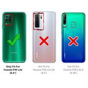 Basic Handyhülle für Huawei P40 Lite Hülle Book Case klappbare Schutzhülle