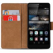 Basic Bookcase Hülle für Huawei P8 Klapphülle Tasche mit Kartenfächer