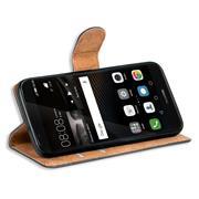 Basic Bookcase Hülle für Huawei P8 Lite 2017 Klapphülle Tasche mit Kartenfächern