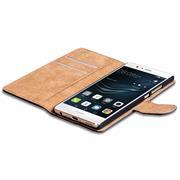 Basic Bookcase Hülle für Huawei P9 Plus Klapphülle Tasche mit Kartenfächer