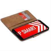 Basic Bookcase Hülle für Huawei P Smart Schutzhülle mit Kartenfächern