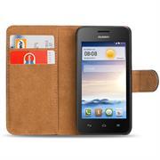 Basic Bookcase Hülle für Huawei Ascend Y530 Tasche mit Kartenfächern