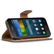 Basic Bookcase Hülle für Huawei Ascend Y3 Klapphülle Tasche mit Kartenfächer