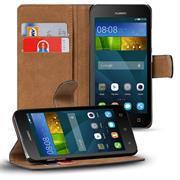 Basic Bookcase Hülle für Huawei Ascend Y3 Klappcase mit Kartenfächern