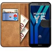 Basic Bookcase Hülle für Huawei Y5 2018 Schutzhülle mit Kartenfächern