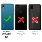 Basic Handyhülle für Huawei Y5 2019 Hülle Book Case klappbare Schutzhülle