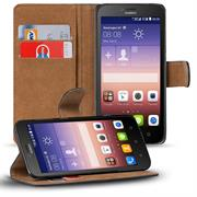 Basic Bookcase Hülle für Huawei Ascend Y625 Klapphülle Tasche mit Kartenfächer