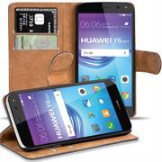 Basic Bookcase Hülle für Huawei Y6 2017 Schutzhülle mit Kartenfächern