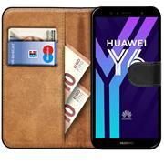 Basic Bookcase Hülle für Huawei Y6 2018 Schutzhülle mit Kartenfächern
