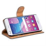 Basic Bookcase Hülle für Huawei Y6 Pro 2017 Klapphülle Tasche mit Kartenfächern