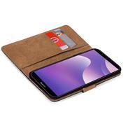 Basic Bookcase Hülle für Huawei Y7 2018 Schutzhülle mit Kartenfächern