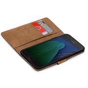 Basic Bookcase Hülle für Lenovo Moto G5 Plus Klapphülle Tasche mit Kartenfächern