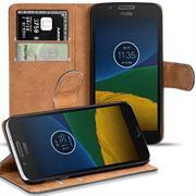 Basic Bookcase Hülle für Motorola / Lenovo Moto G5 Plus Schutzhülle