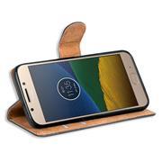 Basic Bookcase Hülle für Motorola / Lenovo Moto G5 Schutzhülle