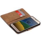 Basic Bookcase Hülle für Lenovo Moto G5 Klapphülle Tasche mit Kartenfächern